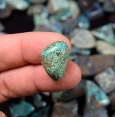 Nice  Chrysocolla ! 13.05  Cts. 100 % Natural  Fancy  Cab For Silver Pendant