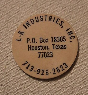 """Round Tuit"" Token, Advertising L.K. Industries, 37 Millimeters"