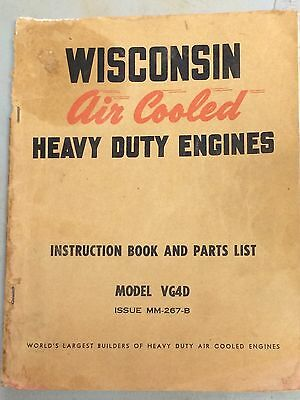 Wisconsin Motor Corporation Vintage Instruction And Parts Manual