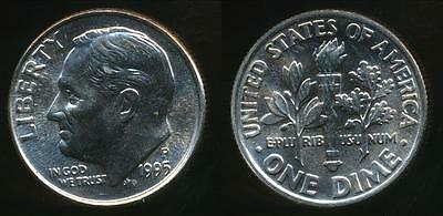 United States, 1995-P Dime, Roosevelt - Uncirculated