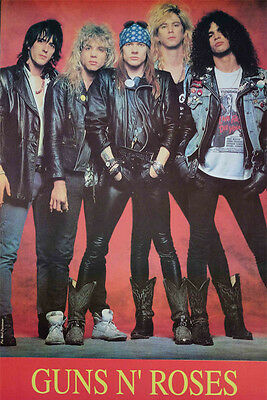"Guns N Roses Poster 23"" X 34"" Rock Heavy Axl Rose Slash 1985 Free Shipping 04"