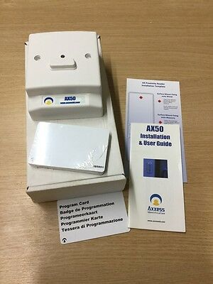 Single Door Card Proximity Access Control system ID AX50 Kit C/W 10 Access Cards