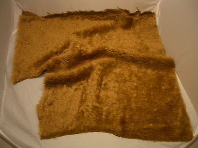 GOLDEN BROWN Med. Dense INTERCAL MOHAIR Fur Teddy Bear Fabric - FREE SHIPPING