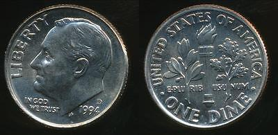 United States, 1994-D Dime, Roosevelt - Uncirculated