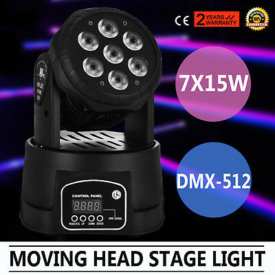 RGBW 105W LED Moving Head Stage Par Light 4in1 Led Lamp Sound Active Disco DJ