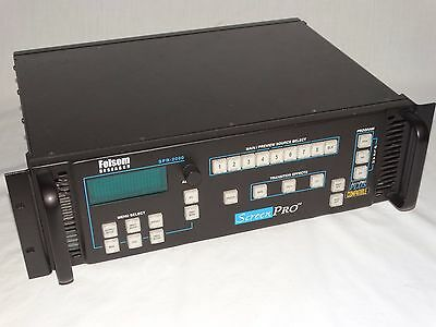 SCREEN PRO SPR-2000 SEAMLESS VIDEO SWITCHER by FOLSOM RESEARCH, TESTED & WORKING