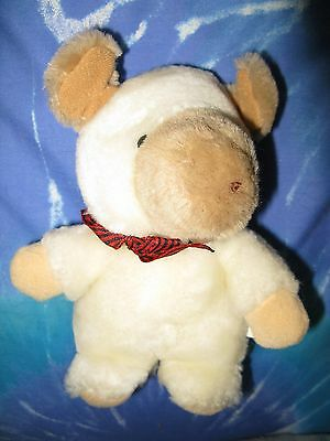 "White Cream Moose Reindeer Plush 7"" Standing CUTE Different"