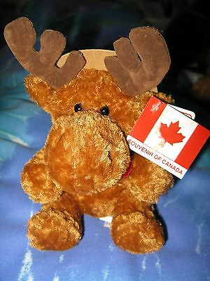 Plush Mackenzie the Moose Mountie Canadian  Mint with Tags CUTE 7""