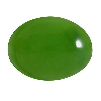 1.42-ct Natural Excellent Cut Oval Shape Green Nephrite Jade Loose Gemstone