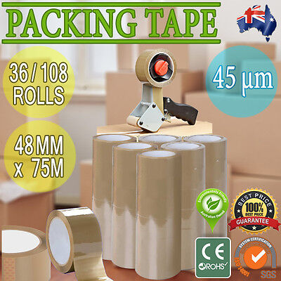 Brown Packing Packaging Box Sealing Sticky Tape Roll Wrap Warehouse Supplier