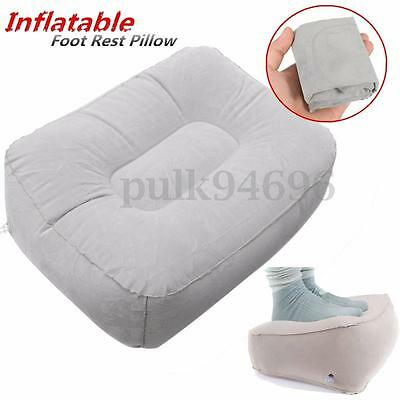 Plane Train Flight Travel Home Inflatable Foot Rest Portable Pad Footrest Pillow
