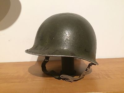 WWII Front Seam S.B US M1 Helmet (complete)