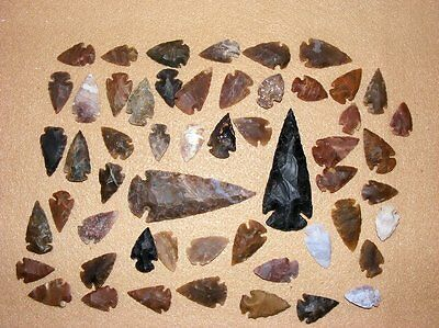 50+ Arrowhead collection Part of Huge Texas Estate stone flint bs-art 10