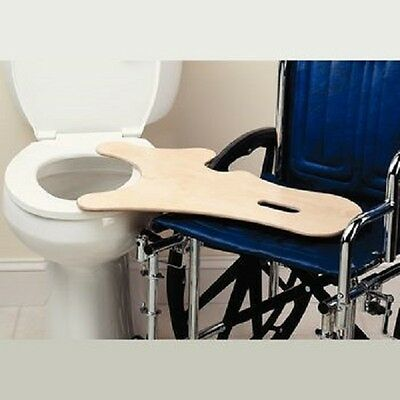 """Therafin Commode Transfer Board - Made From 1/2"""" Thick White Plastic"""