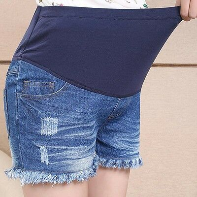 Pregnancy Maternity Shorts Jeans Pants Overbumped Cute Comfy 8 10 12 14 16 3627