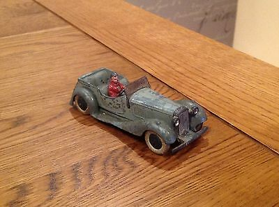 Dinky toys salmon 4 seater with driver very rare prewar