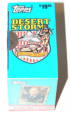 Desert Storm by Topps in 1991. Boxed Collector set on white board. Complete