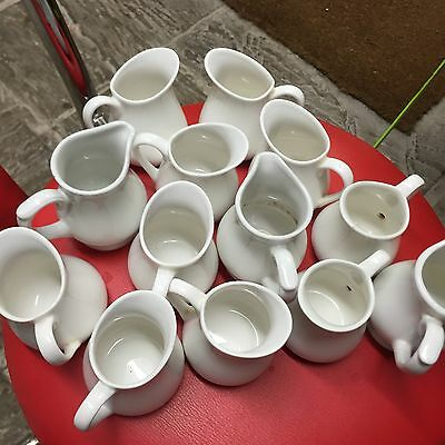 Milk Jugs Pitcher Ceramic Cafe Take Away Hotel Commercial Catering Churchill Mix