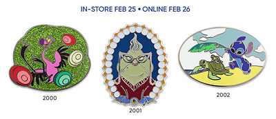 Disney Store Limited Edition 30th Anniversary Celebration Pin Badge Set Week 5