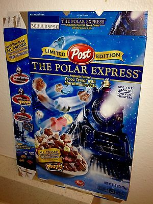 Post The Polar Express Limited Edition Cereal Box: Empty