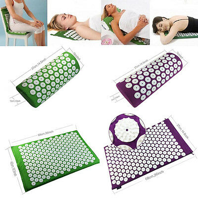 New Acupressure Mat and Pillow Set for Natural Relief of Stress/Pain/Tension