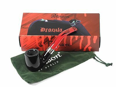 Peterson Dracula Ebony 69 Fishtail Tobacco Pipe 9 mm filter