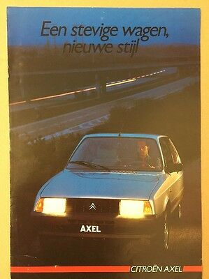 Car Brochure - 1986 Citroen Axel - Netherlands