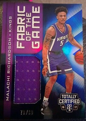 Malachi Richardson 2016-17 Panini Totally Certified Fabric of the Game Relic