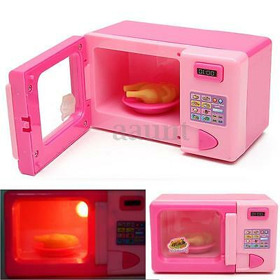 Kids Toy Plastic Pink Microwave Oven Home Children Girls Role Play Pretend Games