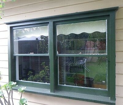 Timber double sash window, very good condition