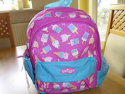 BNWT small SMIGGLE Backpack School Bag Rucksack  Pink  Girls