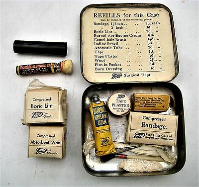 Boots Pocket Vintage First Aid Outfit Tin With Original Contents