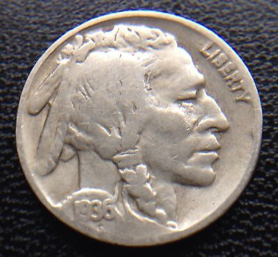 United States Usa 1936 Five Cents Nickel Coin Indian Head Buffalo