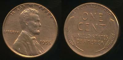 United States, 1955 One Cent, Lincoln Wheat - Extra Fine