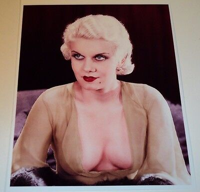Jean Harlow /  8 X 10  Color  Glamour  Photo
