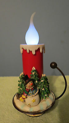 Snowman with Candle Battery Operated