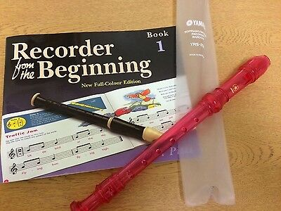 Recorder from the Beginning and Pink Yamaha Recorder