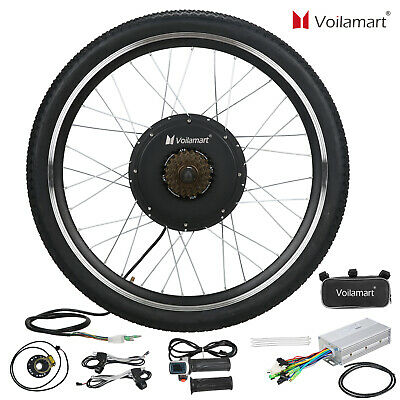 "48V Electric Bicycle E Bike Motor Conversion Kit 1000W 26"" Rear Wheel Hub Cycle"