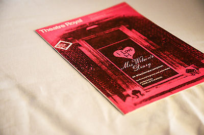Nice vintage Theatre Royal Stratford  programme: MRS. WILSON'S DIARY