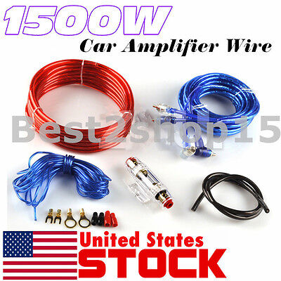 8 Gauge Amplfier Power Kit for Amp Install Wiring Complete RCA Cable ReD 800W
