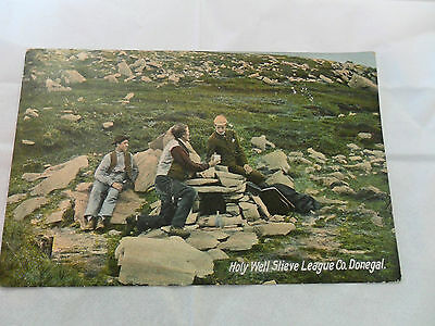 """Postcard,""""holy Well, Slieve League, Co. Donegal""""."""
