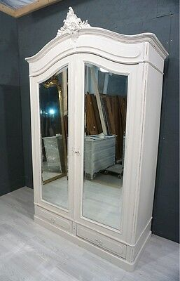 Louis XV style French Shabby Chic Wardrobe / French Armoire (BR 76)