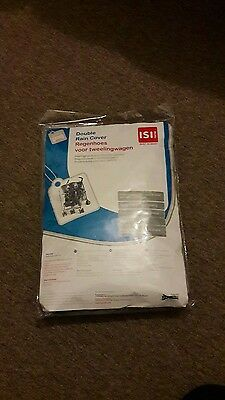 ISI Mini Double pushchair Rain Cover universal fits most side by side new