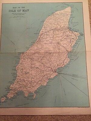 old map - single page ISLE OF MAN  - PRE 1900?