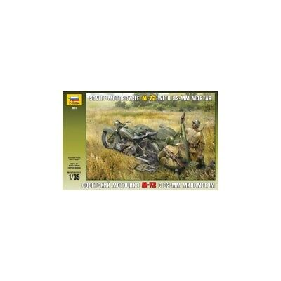 SOVIET MOTORCYCLE M-72 WITH DISC 1/35 Scale Kit