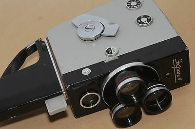 EKRAN 4 Russian Movie 2x8 camera 1970 USSR Rare 3x lens Soviet И4