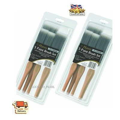 Paint Brush Set Harris Platinum DIY Decorating Brush Pack With Wooden Handles