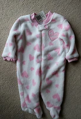 baby girls thick babygrow/sleepsuit size 0-3 months