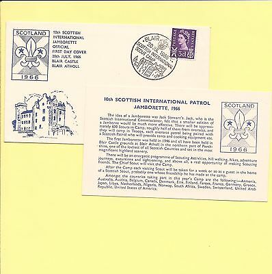 1966 20 July Blair Castle 10th International Jamborette Official FDC and insert