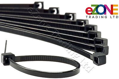 Strong Cable Ties Black Zip Tie Wraps Size 100mm - 370mm Quantity Discounts